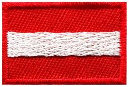 Flag of Austria Austrian Vienna Europe sew applique iron-on patch Small ... - $1.77