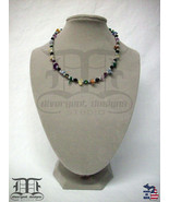 Divergent Designs Studio 5 Semi-Precious Gemstone Silver Necklace Made I... - $24.98