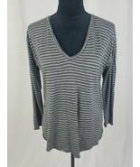 Madewell S Anthem long sleeve v-neck striped tee - $25.74