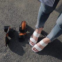 Ankle Strap Summer Flip Le Sandals Flops 2018 Genuine Woman Shoes Women FEDONAS 7wqU4XxIA