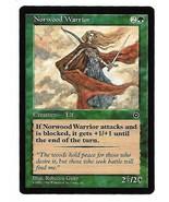 Magic The Gathering MTG Norwood Warrior Portal 2 Card NM Rebecca Guay Art - $3.99