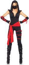 Women's 5 Piece Black Samurai Ninja Costume Set image 8