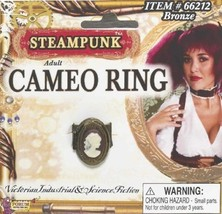 SteamPunk Cosplay Victorian Cameo Bronze Finger Ring NEW UNUSED - $6.89