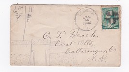 GENEVA OHIO JANUARY 14 1890 ON 2C GREEN WASHINGTON CROSS CANCEL - $3.98