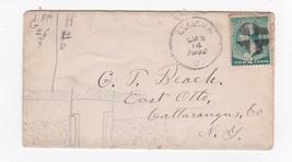 GENEVA OHIO JANUARY 14 1890 ON 2C GREEN WASHINGTON CROSS CANCEL - $3.98
