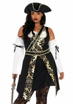 Leg Avenue Schwarz See Seeräuber Pirat Übergröße Adult Halloween Kostüm ... - $59.21
