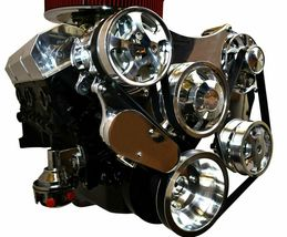 Small Block Chevy Serpentine Front Drive System Complete Kit Chrome image 3