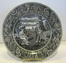 "Spode Archive Collection Georgian Series Black  ""WOODMAN"" 10.5"" Plate En... - $24.70"