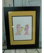 "Tamara Tsurkan Water Color Pink Dogs Folk Art W-13-3/4"" X 16-03/4"" At Fr... - $197.99"