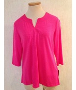 New ALISON DALEY Size PS 6P - 3/4 Sleeve TUNIC TOP NWT $38 MSRP  Free Shipping - $13.86