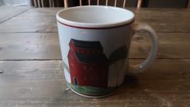 "10 Oz Warren Kimble ""Barns"" Coffee Mugs Cups Pottery 1998 - $12.86"
