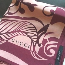 GUCCI Scarf Stole Silk 100% Floral Pattern Woman Luxury Auth New Unused ... - $340.96