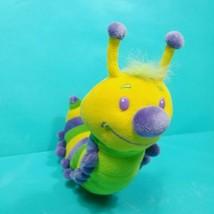 "Centipede Caterpillar Plush Stuffed Animal Green Yellow Purple 9"" Long B... - $17.81"