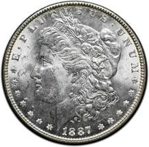 1887 MORGAN SILVER DOLLAR COIN Lot# A 501