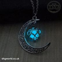 YAKAMOZ Enchanting Moon & Heart Theme Ladies Necklace - Glow in the Dark image 9