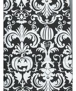 Halloween Pumpkin Jack-O-Lantern Spider Web Black Vinyl Tablecloth Flann... - $12.99