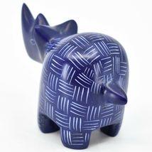 Tabaka Chigware Hand Carved Kisii Soapstone Blue Rhinoceros Rhino Figure Kenya image 3