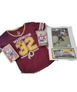 Washington Redskins Bundled Items- Women's Shirt, 2 VHS Tapes, Sealed Photo - $49.45