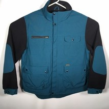 Koolah Men's XL Jacket Teal Blue Black Made In Canada - $74.79