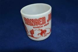 Ranger Joe Milkglass Child's Mug Hazel Atlas Red Cowboy Western - $7.75