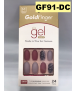 KISS GOLD FINGER GF91 -DC GEL GLAM READY TO WEAR GEL MANICURE 24 NAILS - $5.73
