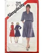 Simplicity 5242 Pullover Dress Size 10 Cut  - $5.50