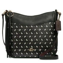 Authentic NWT Coach 67374 Butterfly-Print Chaise Crossbody Black-Gold Bag - $209.96 CAD