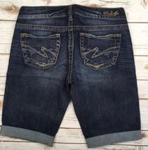 Silver J EAN S Shorts Low Rise Toni Denim Cuffed Dark Stretch Jean Short 28 - $54.20