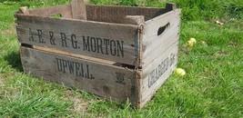 English Orchard Vintage Wooden Apple Crates Storage Box Fruit Crates Box* - $24.09