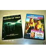 WOW 2 LOT DVD MOVIES PARIS HILTON HOUSE OF WAX & SIMPLE LIFE SEXY ORIGIN... - $5.99