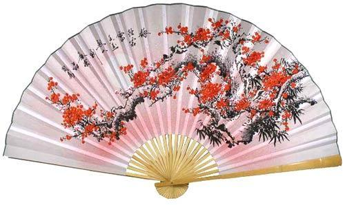 Purity Blossoms Chinese Wall Fans