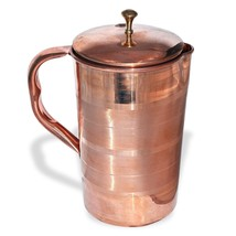 Copper Pitcher Pure 100% Copper Jug, Handmade, 54 Oz Ayurveda, Moscow Mule - $26.95