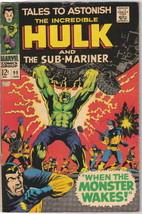 Tales To Astonish Comic Book #99 Marvel Comics 1968 FINE- - $15.44