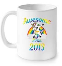 Kids Unicorn 5th Birthday girl Party 2013 rainbow s outfit Gift Coffee Mug - $13.99+