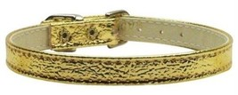 Mirage Pet Products Metallic 3/8-Inch Wide Plain Collars, 16-Inch, Gold - $32.99