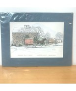 Resslers Mill at Mascot Lancaster County PA Color Horse Art Print CM Gof... - $14.95