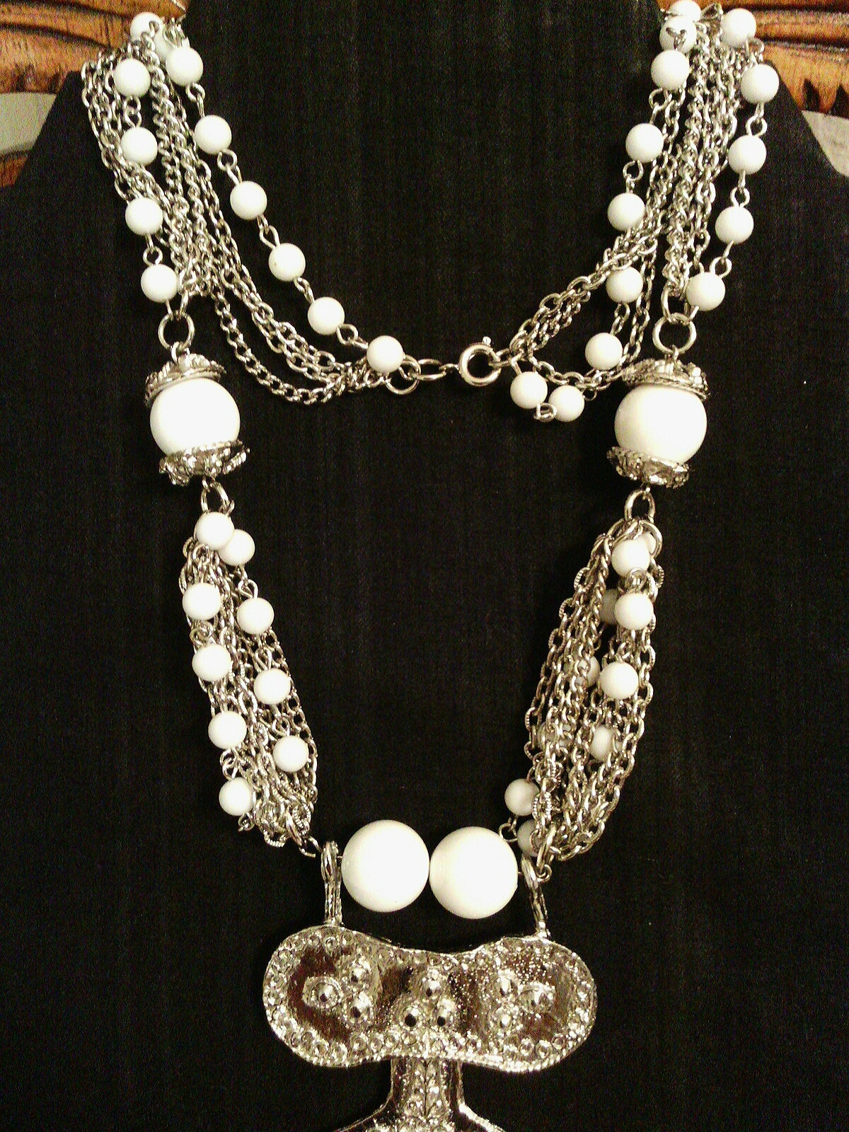 Vintage Etruscan Revival Statement Necklace