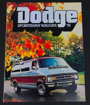 Vintage 1978 Dodge Sportsman Wagons Car Sales Brochure 6 pages - $8.86