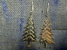 "Vintage Mexico Sterling 2"" Christmas Tree Dangle Earrings 11.7 Grams - $34.65"