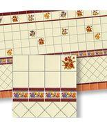 Dollhouse Mediterranean Wall Tile Sheet 34329 Red, Orange World Model Mi... - $4.70