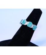 Nice 3.40ctw Genuine Emeralds set in Sterling Silver - $63.00