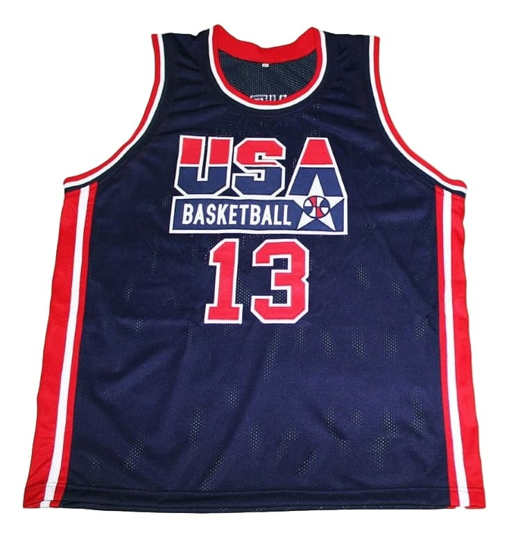 Shaquille O'Neal #13 Team USA New Men Basketball Jersey Navy Blue Any Size