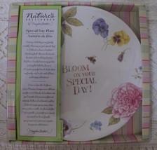 "NIB Marjolein Bastin Nature's Sketchbook Special Day Plate 9"" Hallmark F... - $12.16"