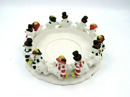 "Partylite Frolicking Snowman Candle Holder 8"" - $14.80"