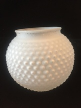 Vintage Art Deco frosted glass hobnail ceiling bulb fixture cover image 3