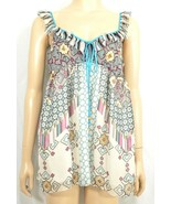 4 Love Liberty Johnny Was top SZ S 100% silk soft muted colors - $39.59
