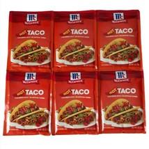 (6) packs McCormick HOT Taco Seasoning Mix No MSG/Artificial Flavors Lot... - $21.73