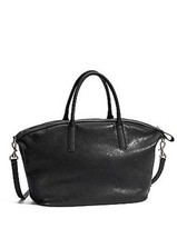 Guess Wilcox Dome Satchel Black Handbag Tote coing purse bag Style VG393... - $89.99