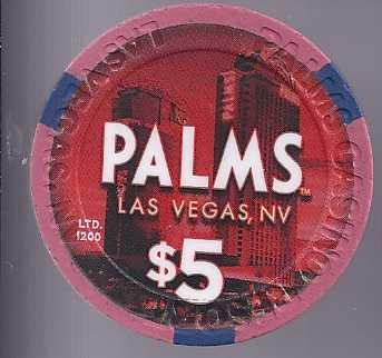 $5 Palms HAPPY NEW YEAR 2012  Vegas Chip