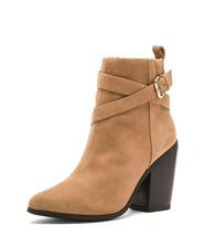 NIB Sz EU 37/ US 6.5 RAYE Tan Erin Suede Pointed Toe Buckle Detail Heele... - $255.42